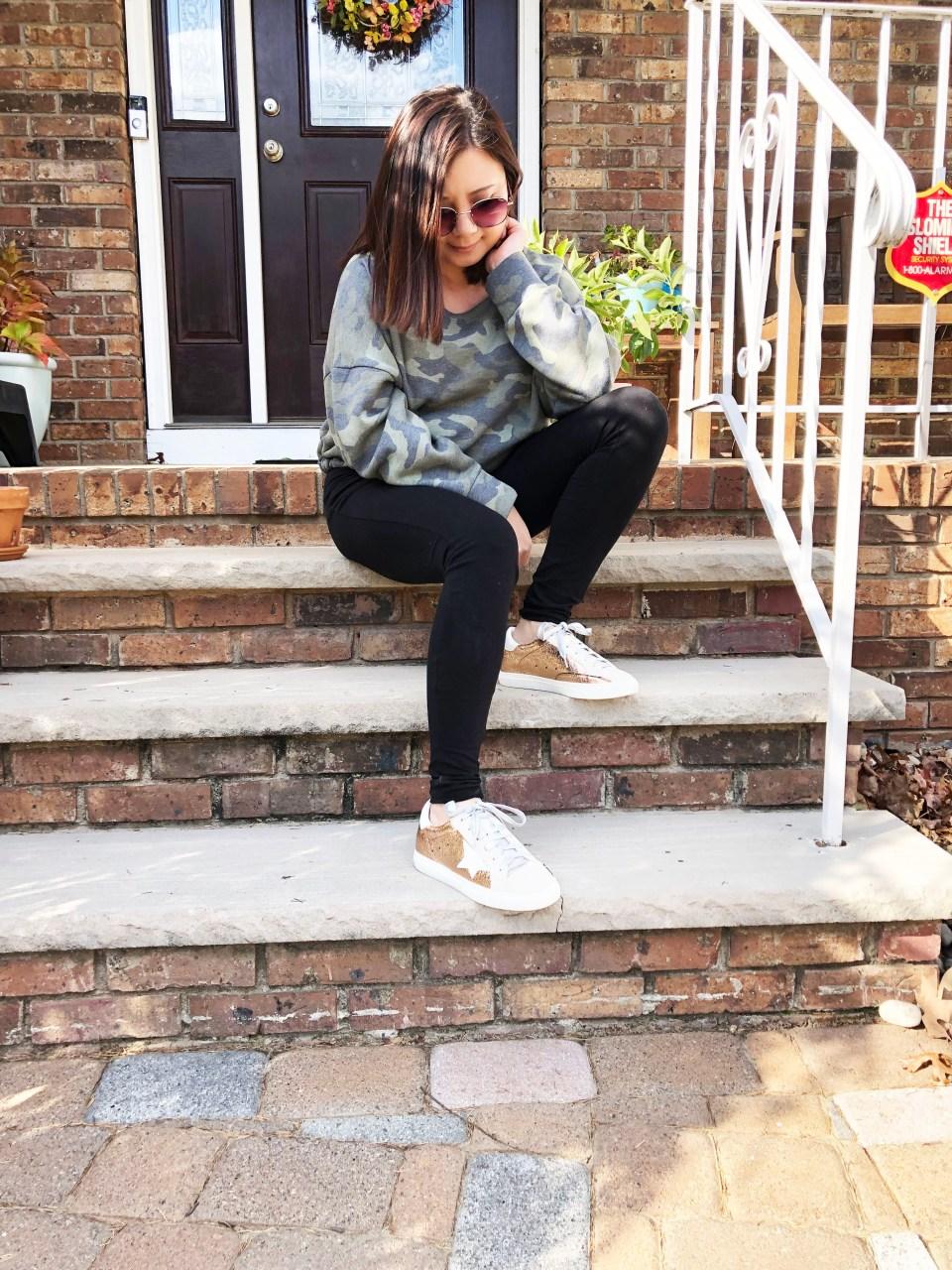 Rose Gold Star Sneakers 14