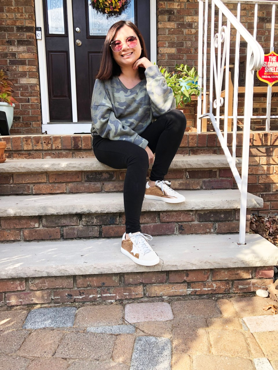 Rose Gold Star Sneakers 15