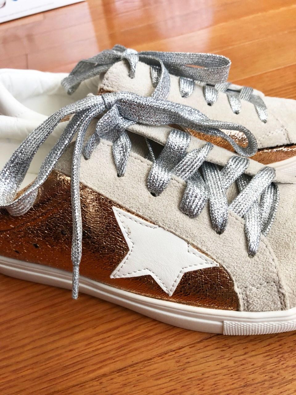 Rose Gold Star Sneakers 3