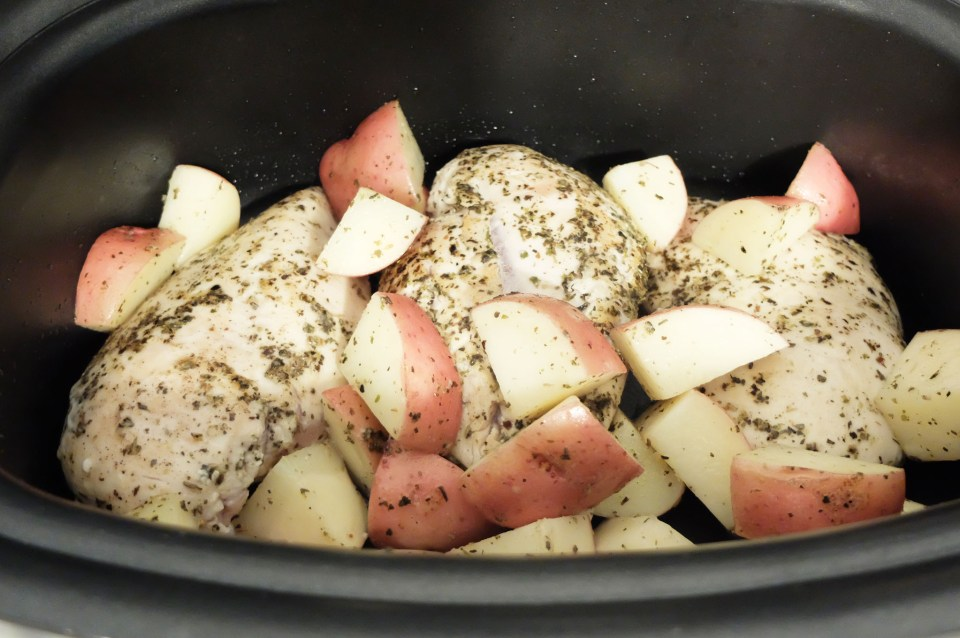 Slow Cooker Italian Chicken & Potatoes 5