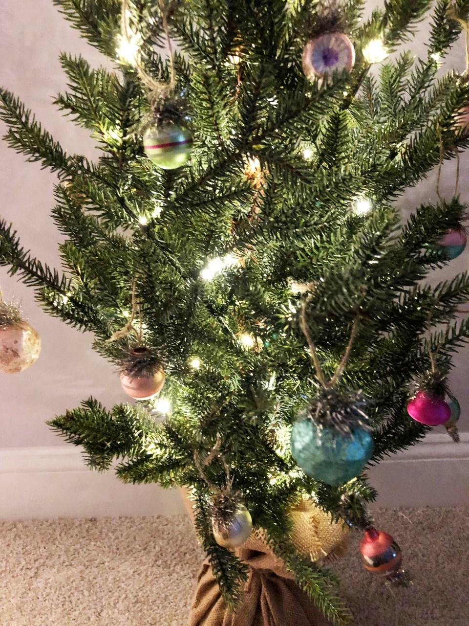 Burlap Christmas Tree 1