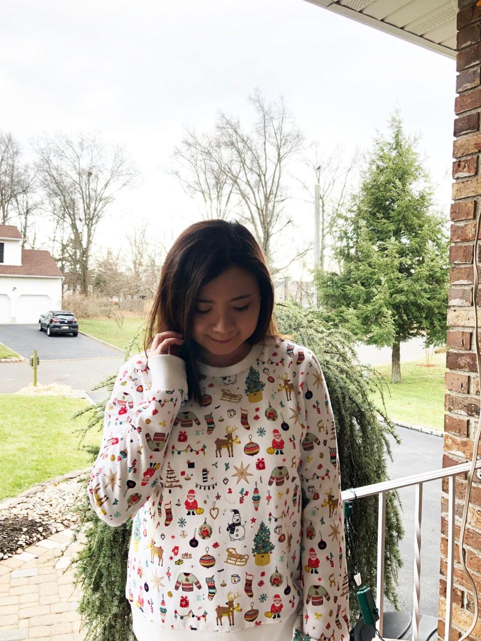 Christmas Graphic Fleece Sweatshirt 3