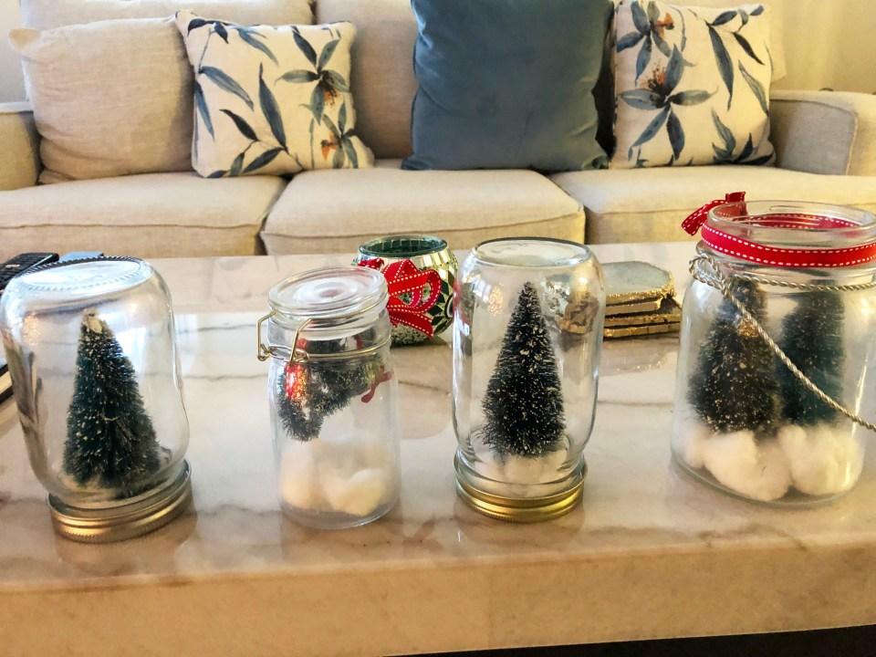 Christmas Tree Mason Jars 1