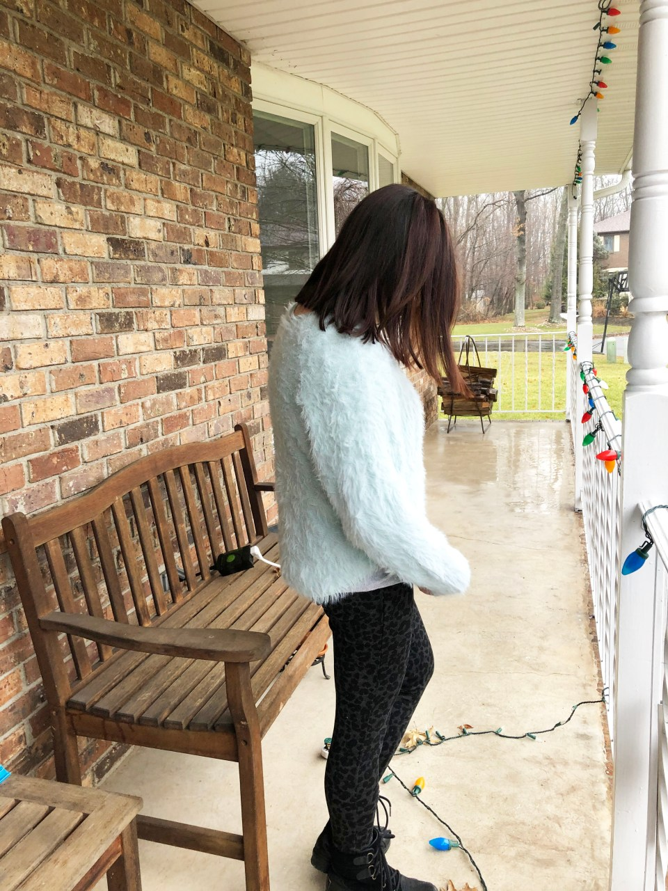 Eyelash Sweater + Leopard Ponte Leggings 7
