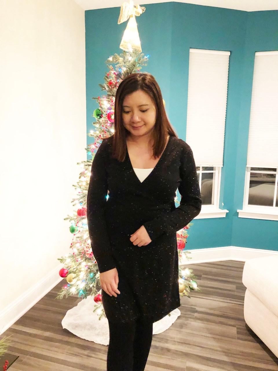Flecked Wrap Sweater Dress 18
