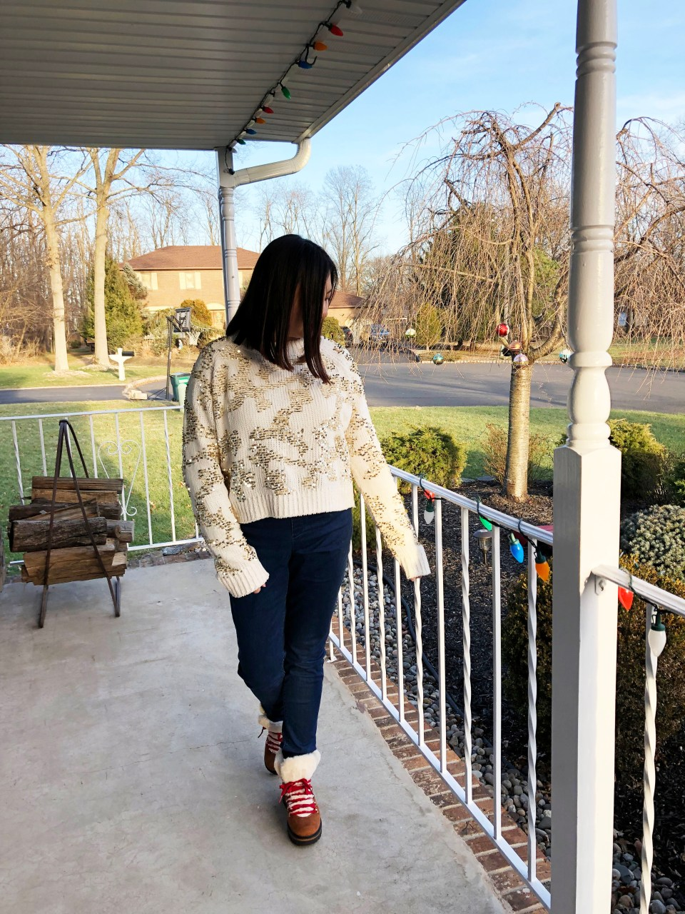 Gold Sequin Sweater 14