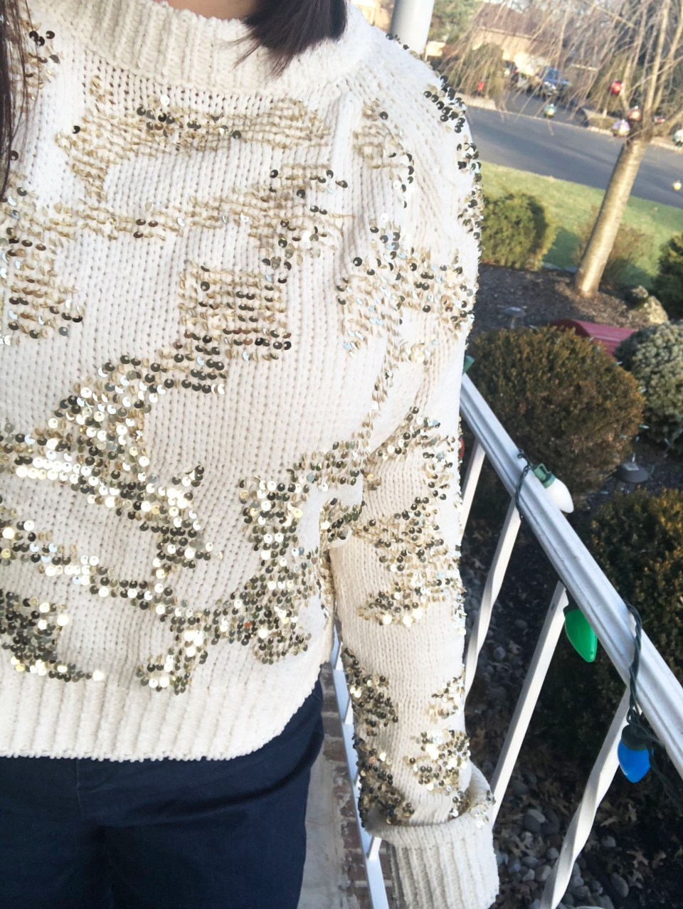 Gold Sequin Sweater 19