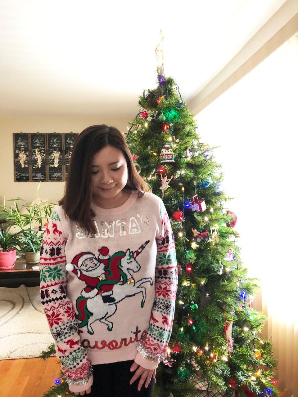 Santa & Unicorn Christmas Sweater 3