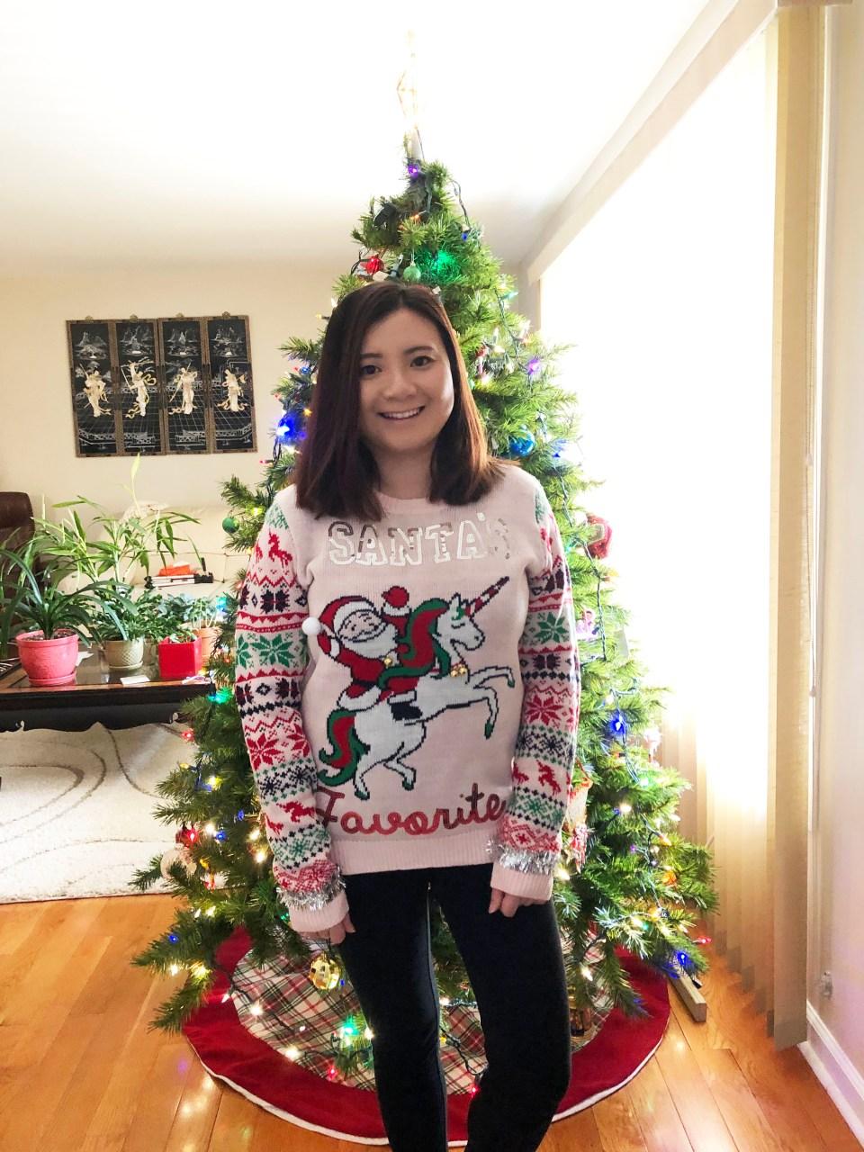 Santa & Unicorn Christmas Sweater