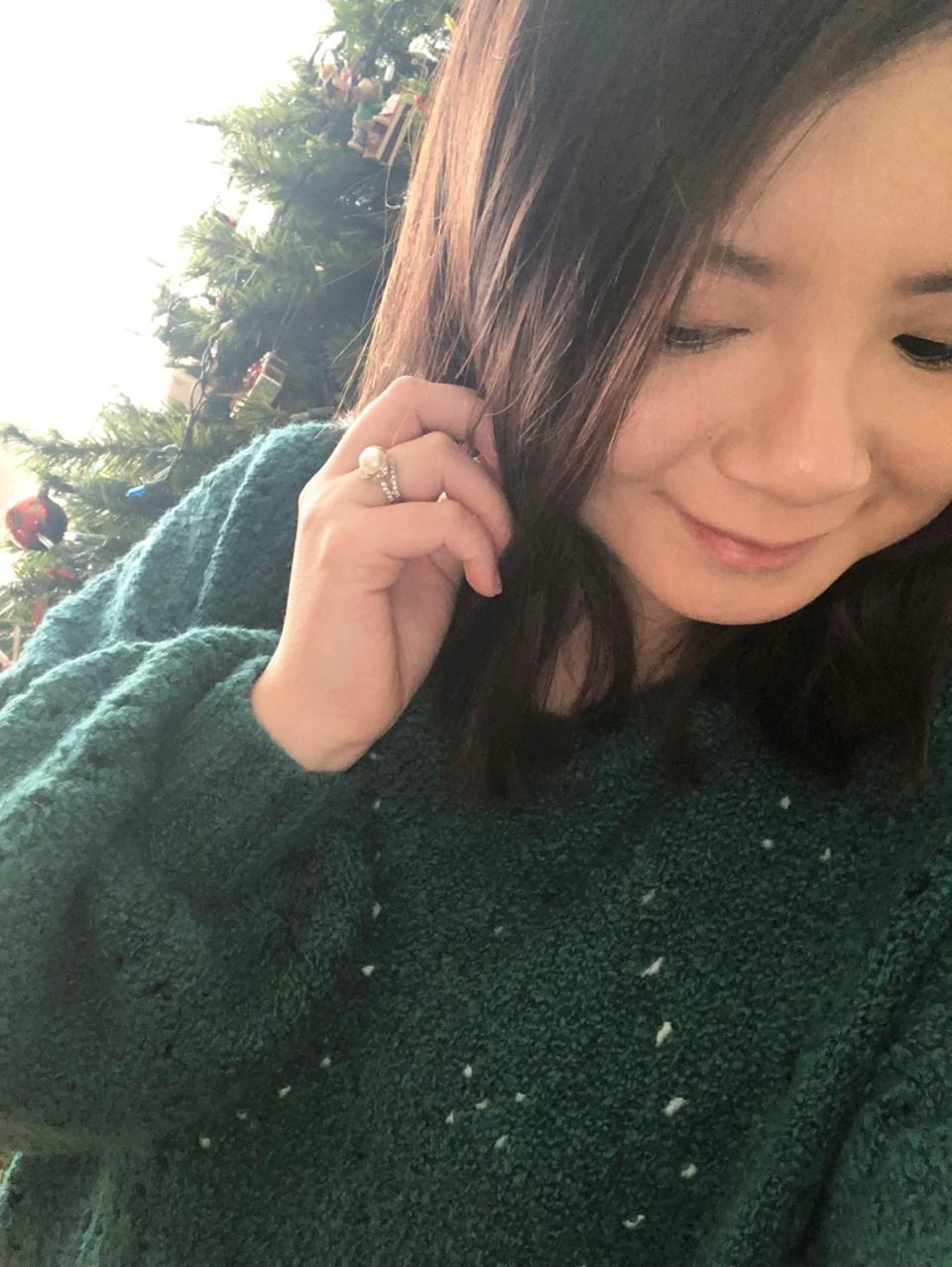 Teal Argyle Sweater 16