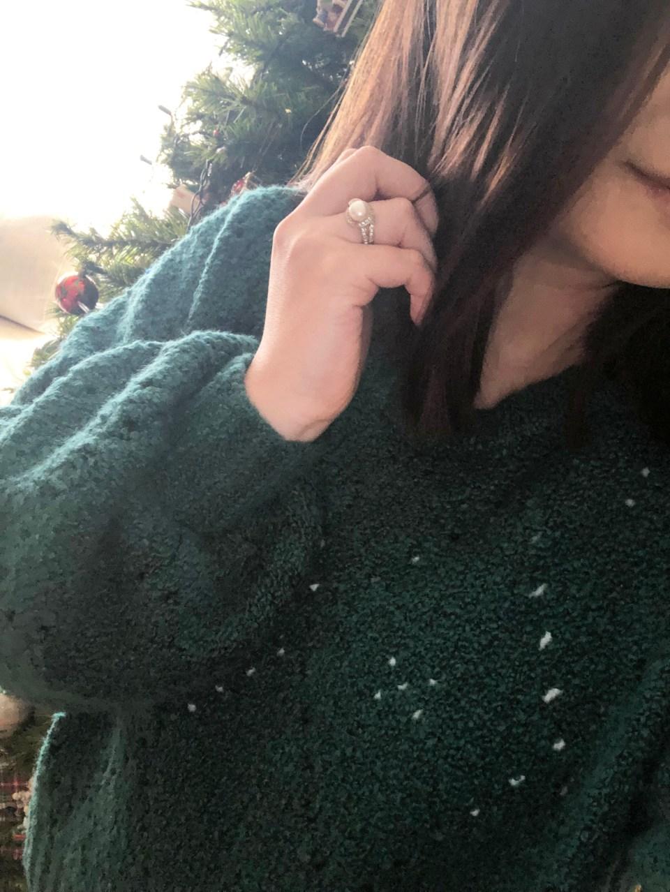 Teal Argyle Sweater 17