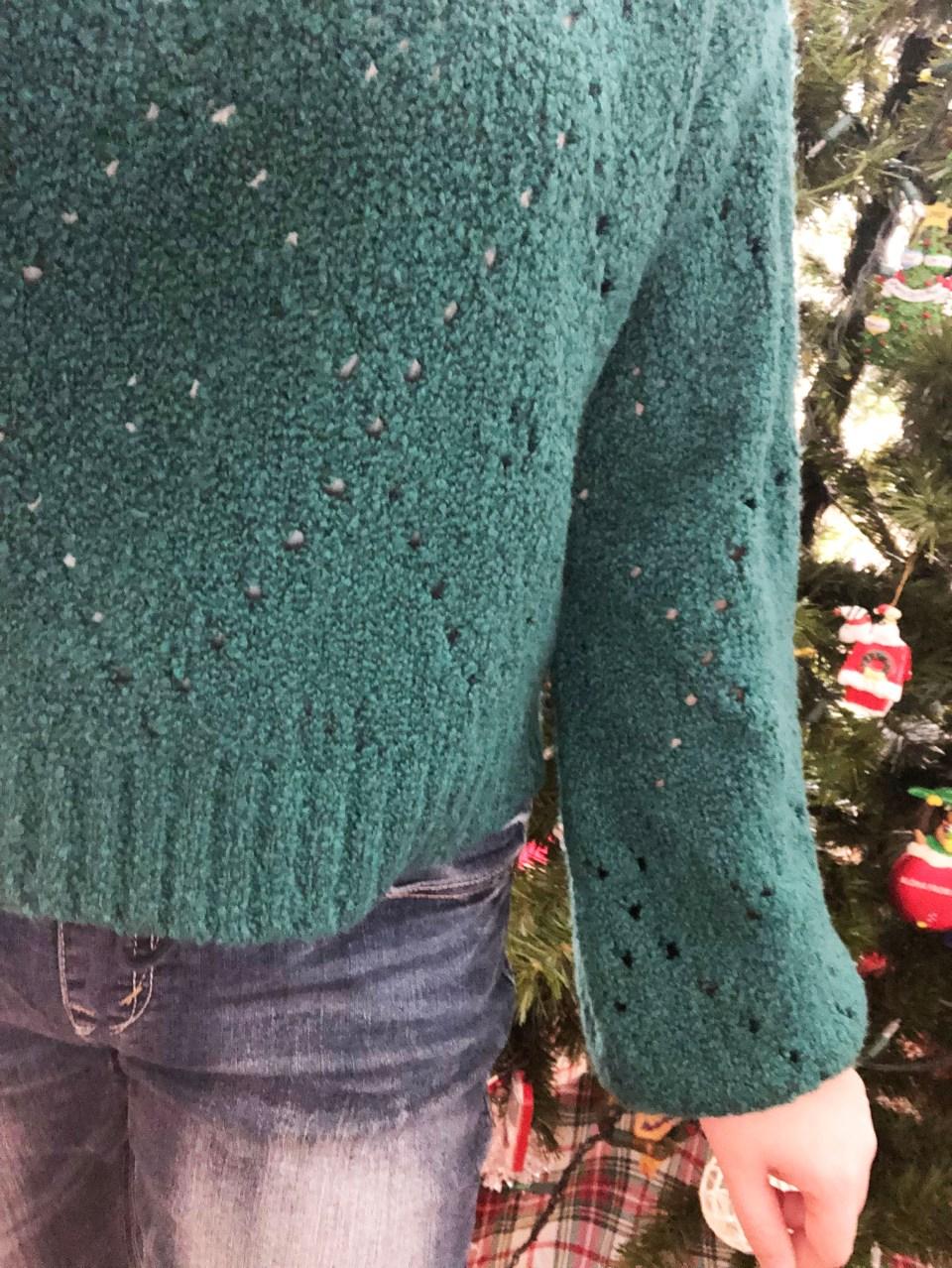 Teal Argyle Sweater 18