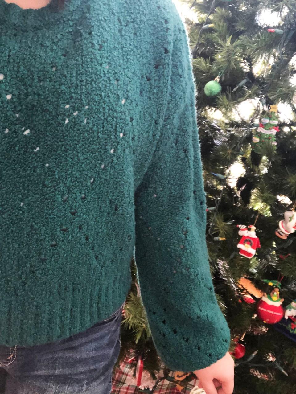 Teal Argyle Sweater 19