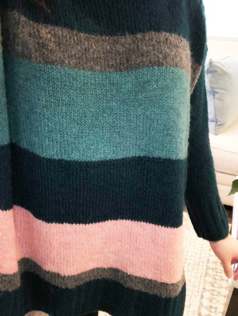 Colorblock Poncho Sweater 13
