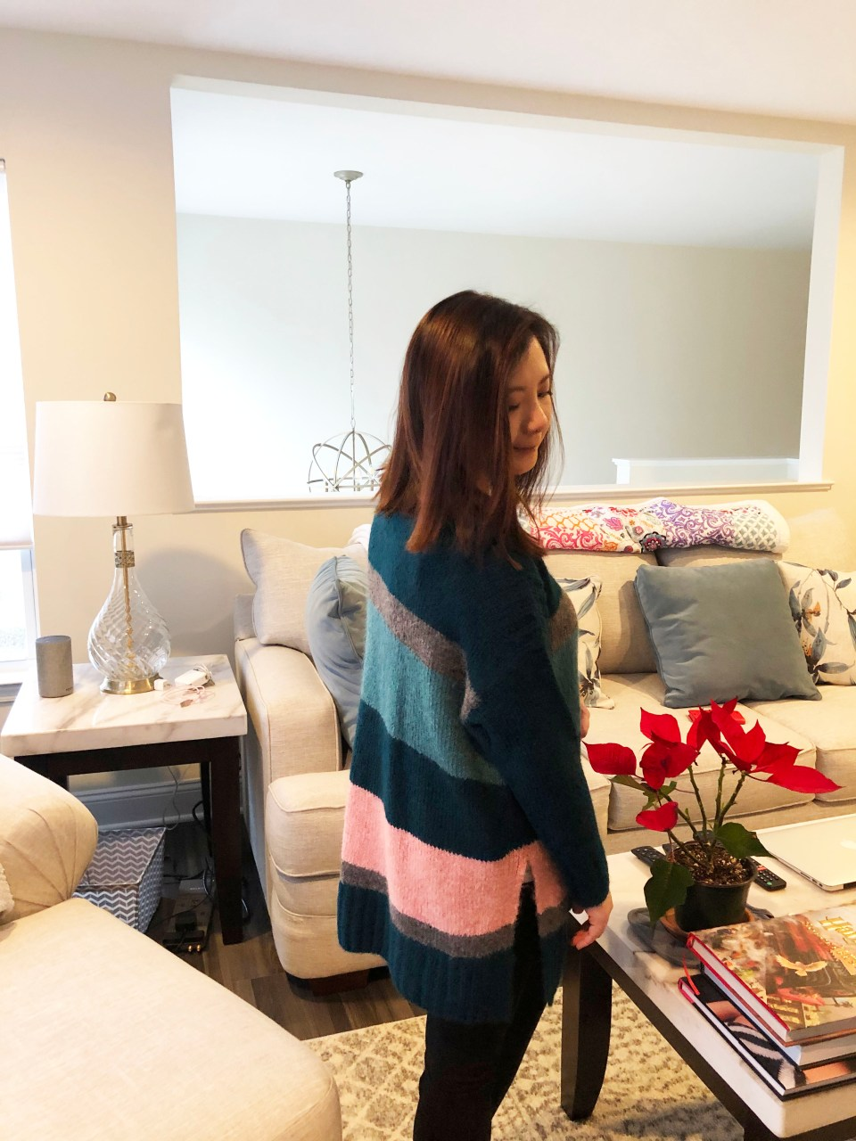 Colorblock Poncho Sweater 4