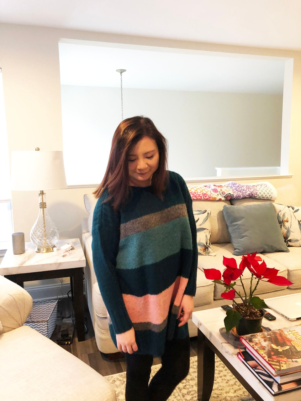 Colorblock Poncho Sweater 5