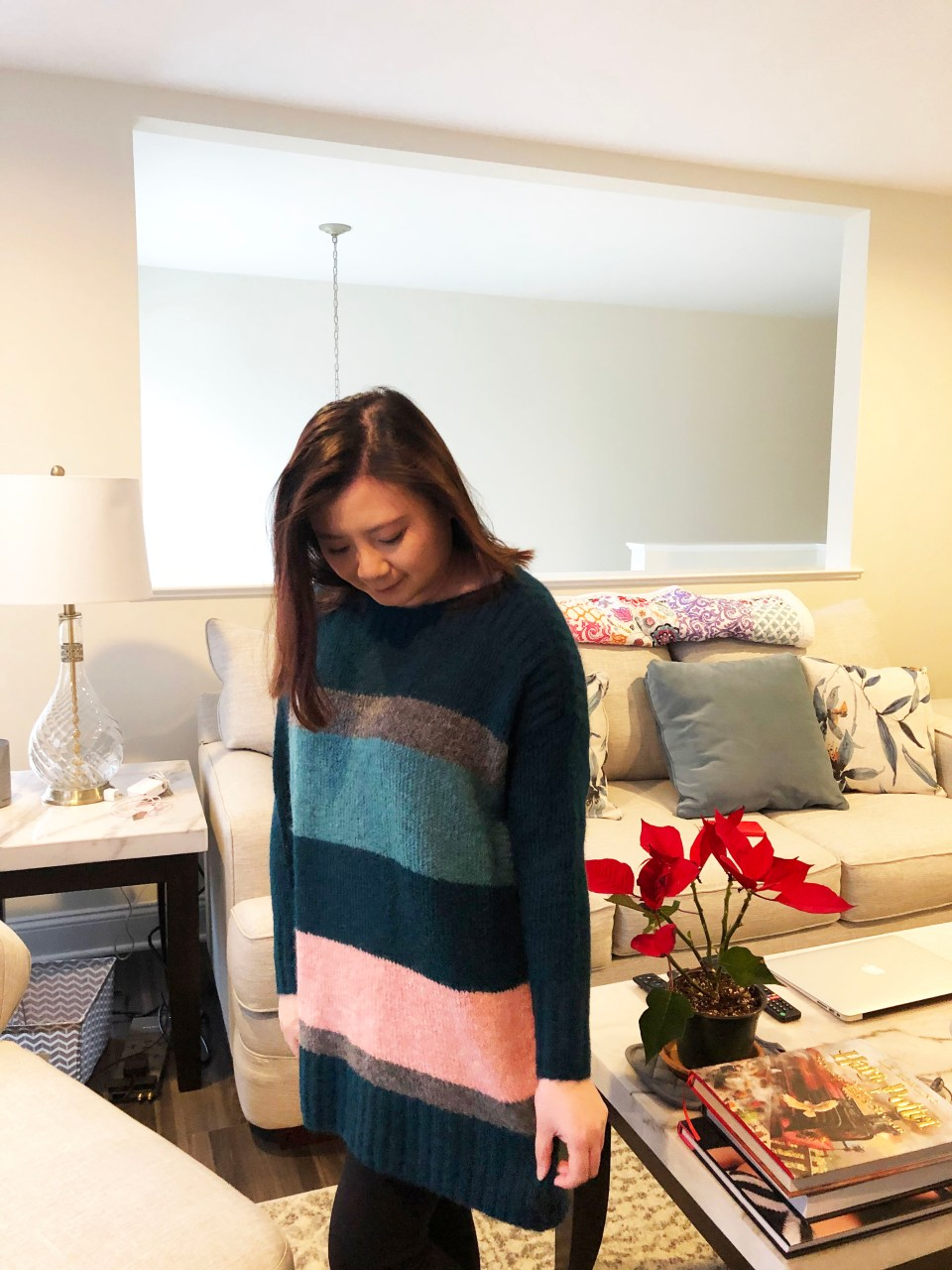 Colorblock Poncho Sweater 9