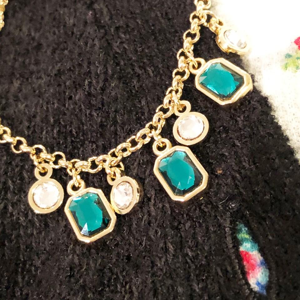 Emerald Pull Chain Bracelet 2