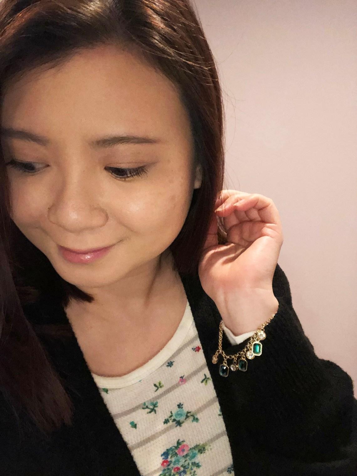 Emerald Pull Chain Bracelet