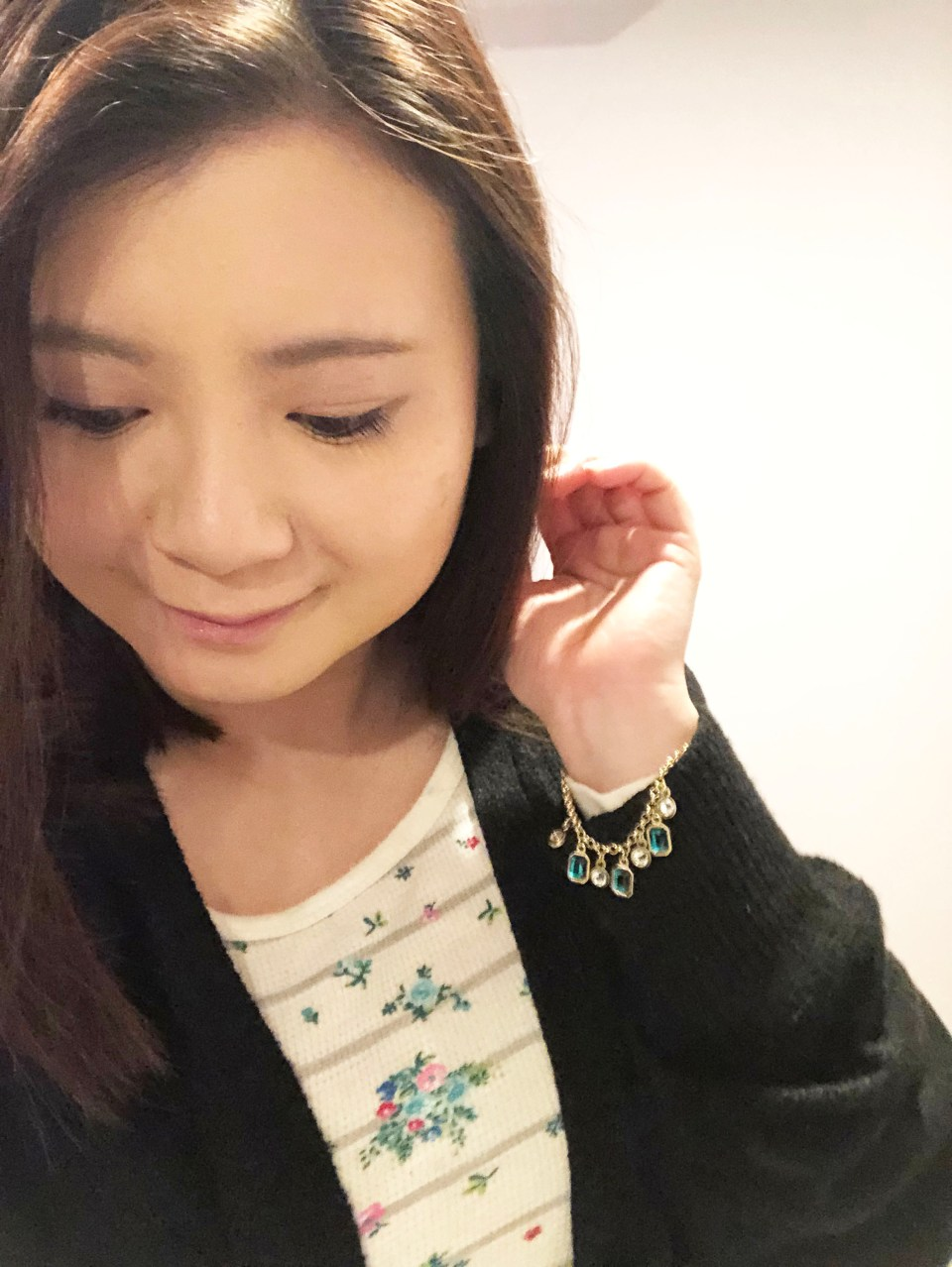 Emerald Pull Chain Bracelet 7