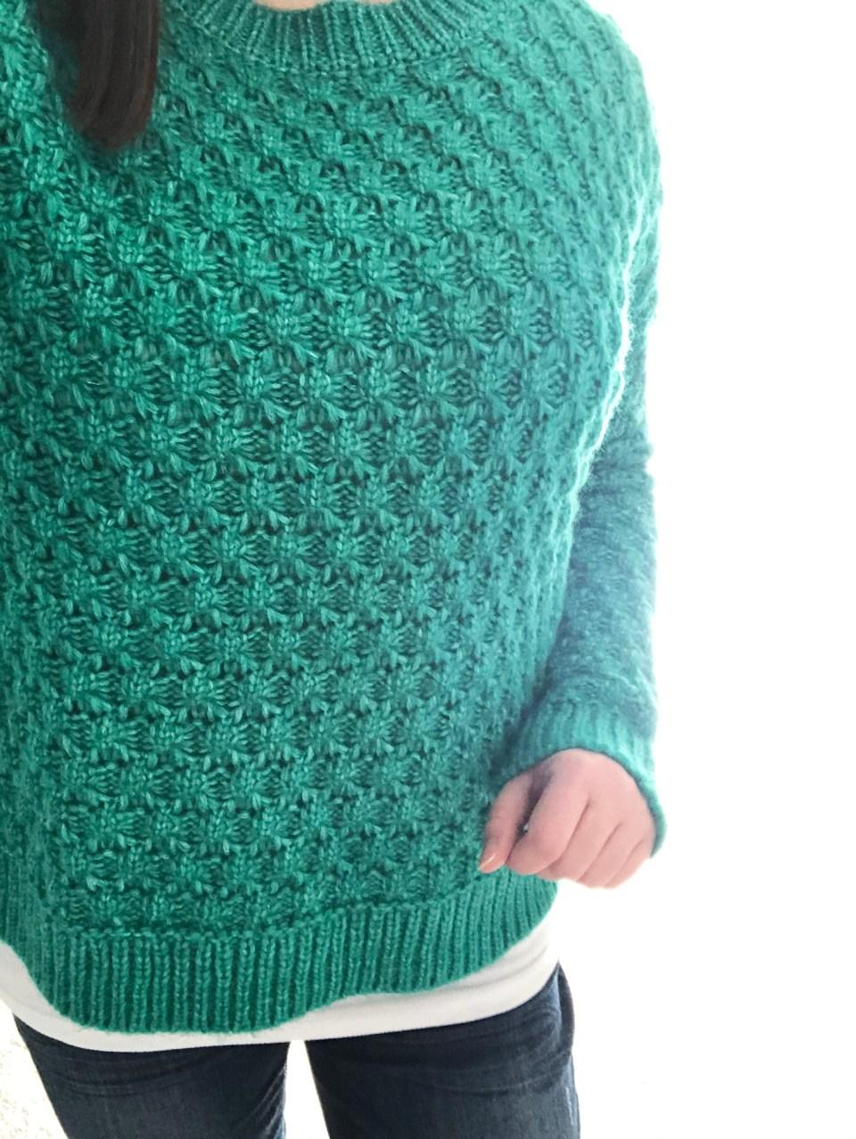 Piercing Emerald Bobble Stitch 17