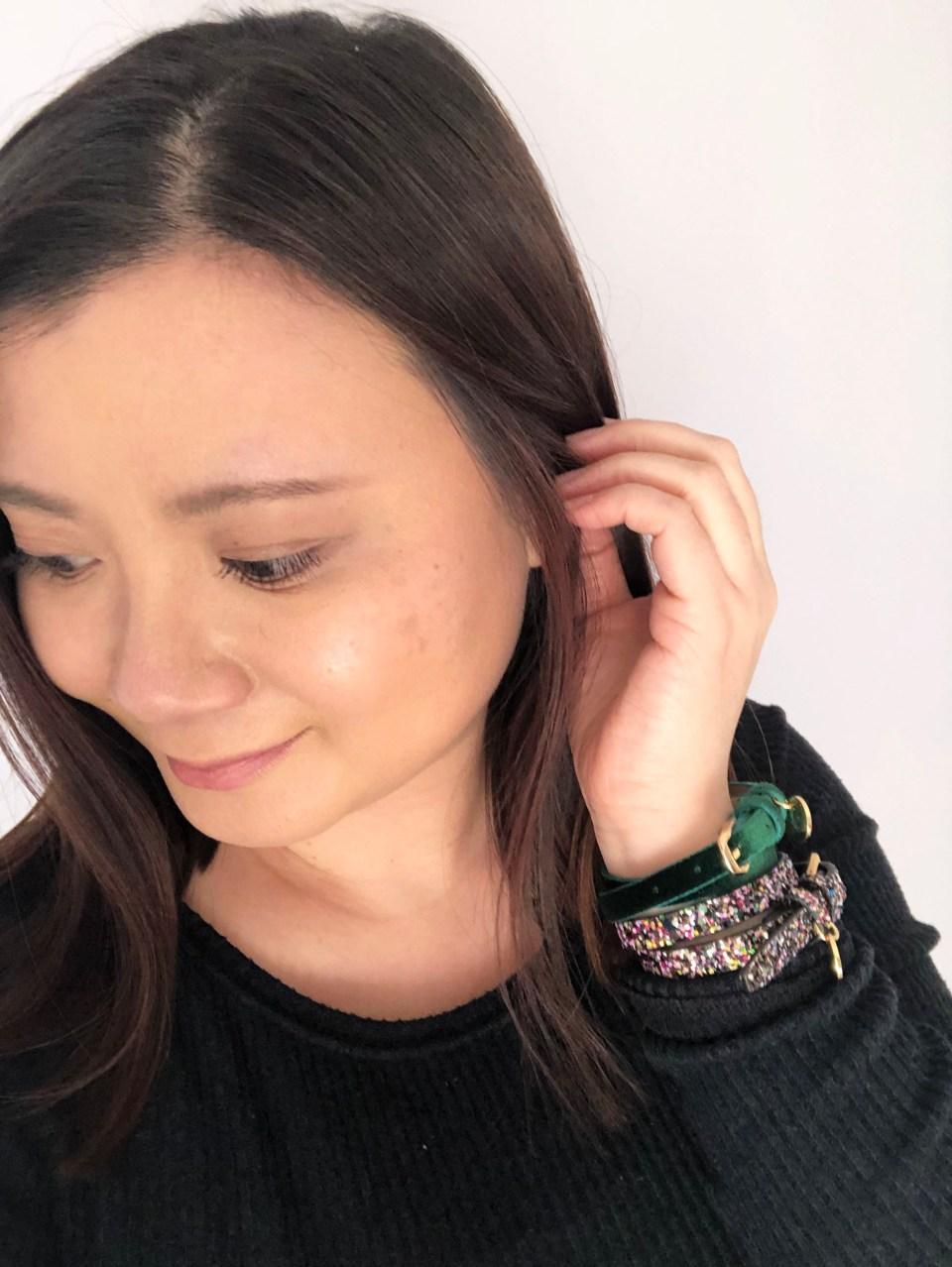 Velvet + Sequins Double Wrap Bracelets 4