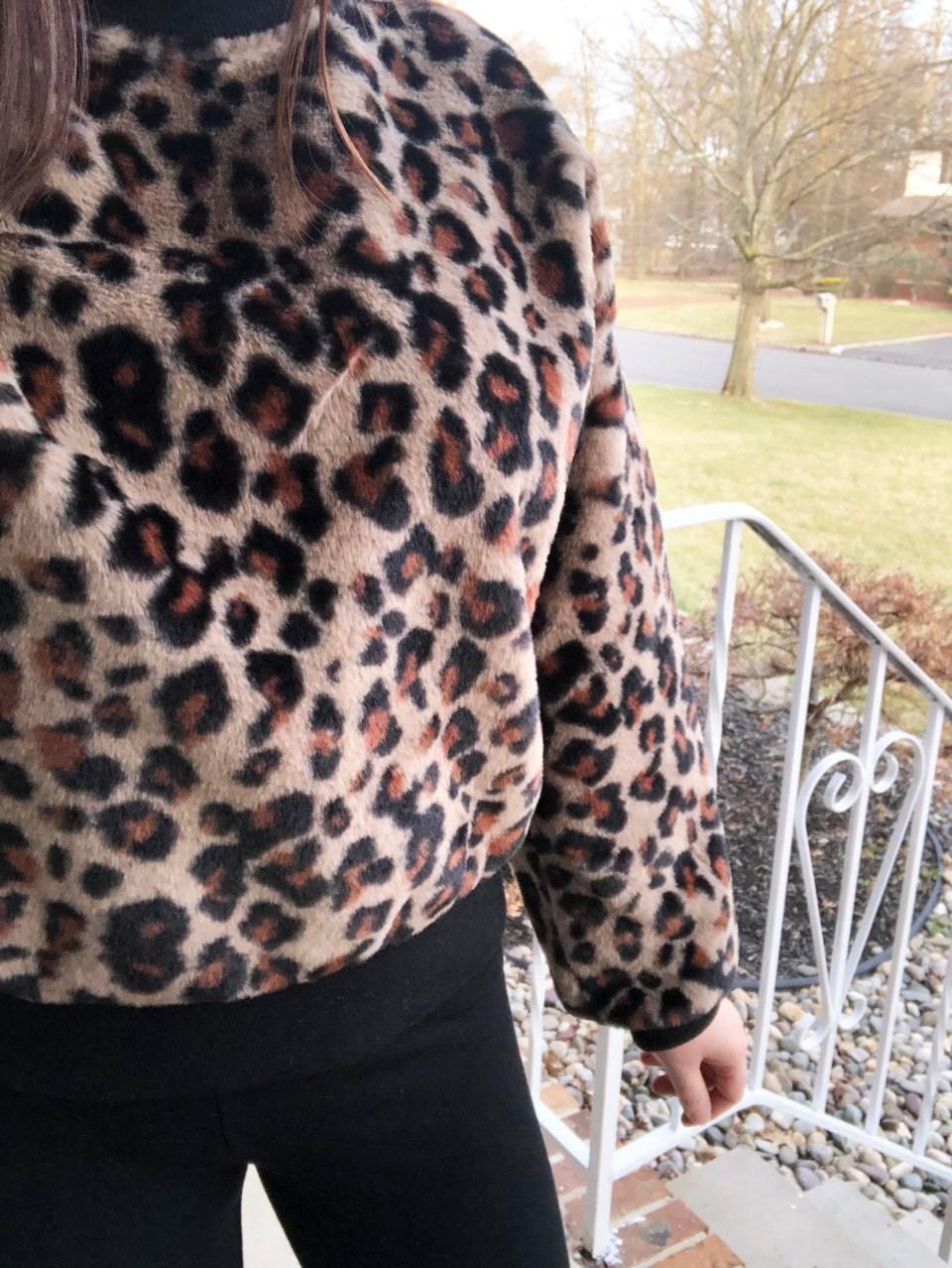 Animal Print Faux Fur Sweatshirt 9