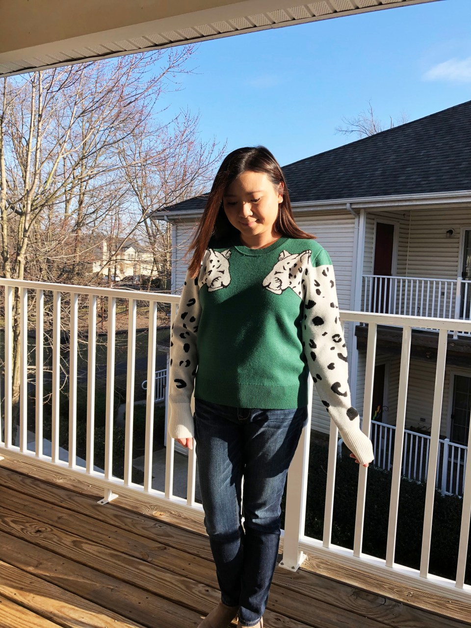 Leopard Sleeve Sweater 9