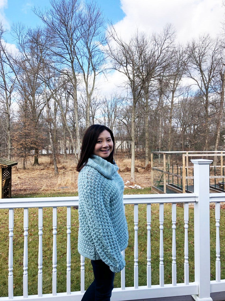 Oversized Knit Cowl Neck Sweater 12