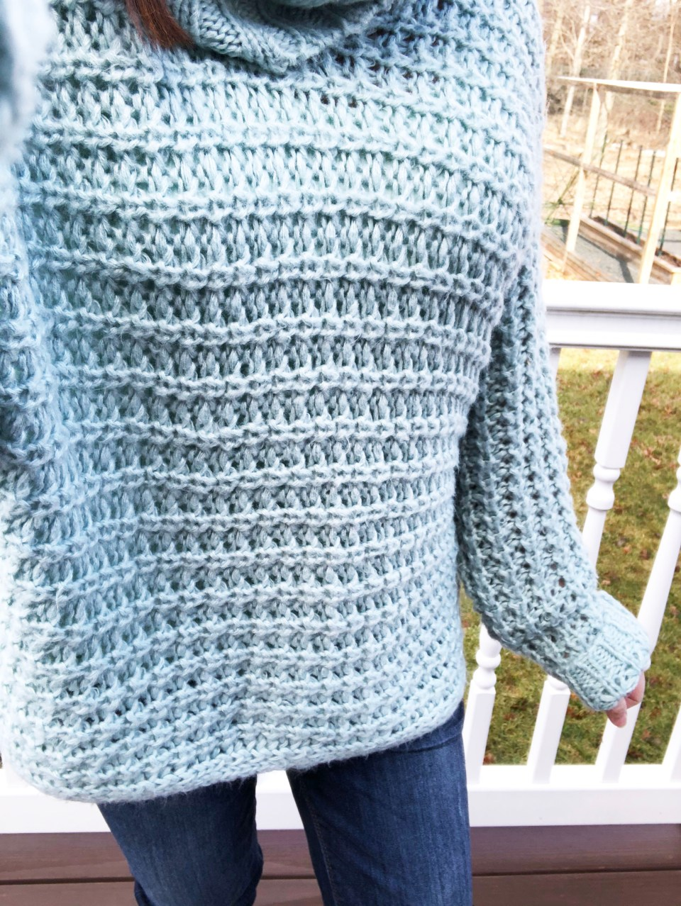 Oversized Knit Cowl Neck Sweater 15