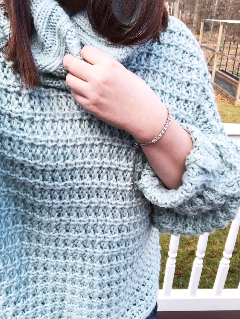 Oversized Knit Cowl Neck Sweater 16