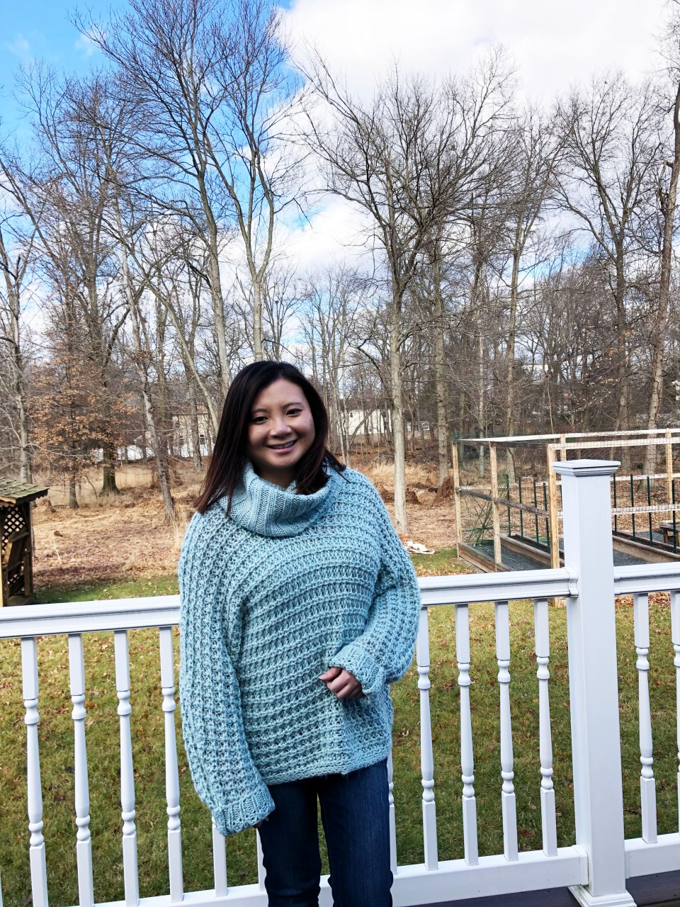 Oversized Knit Cowl Neck Sweater 5
