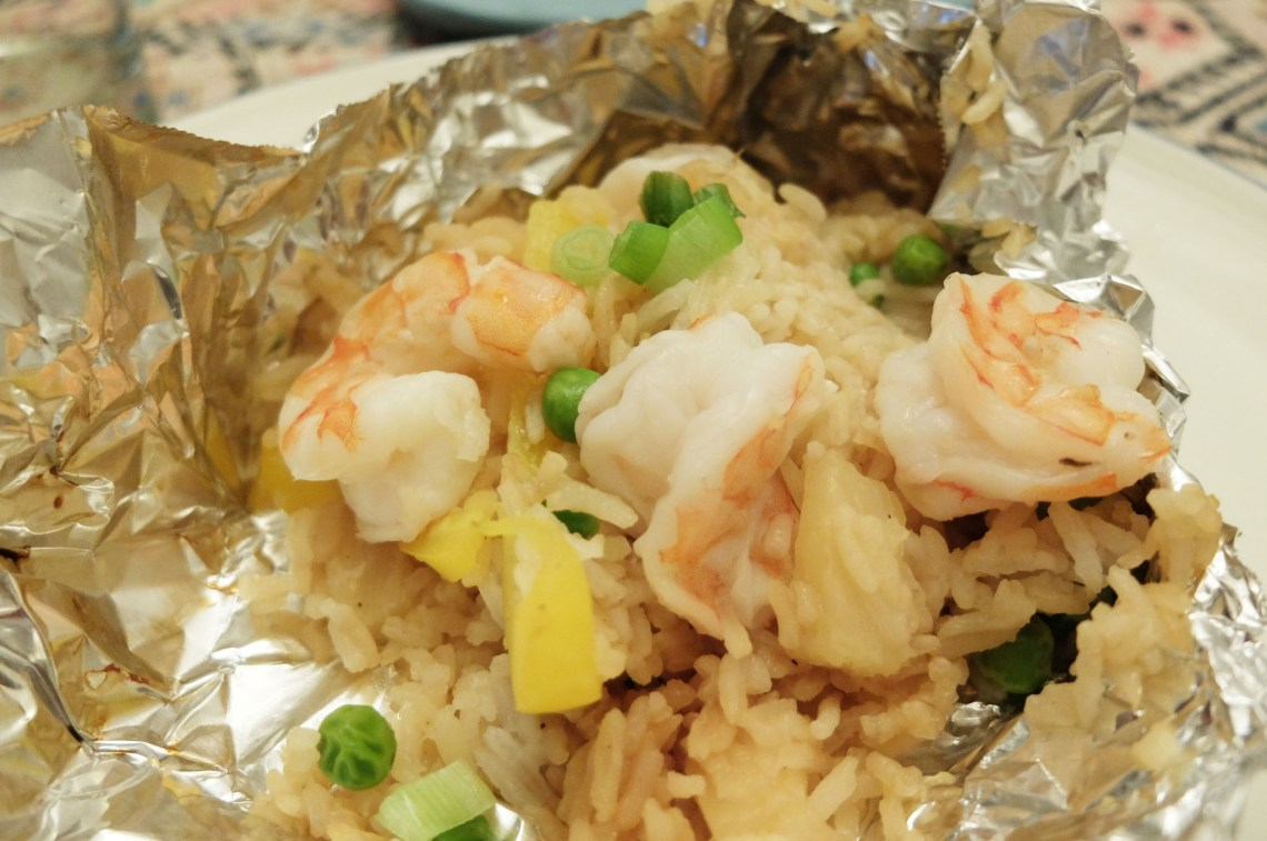 Teriyaki Shrimp & Pineapple Parcel