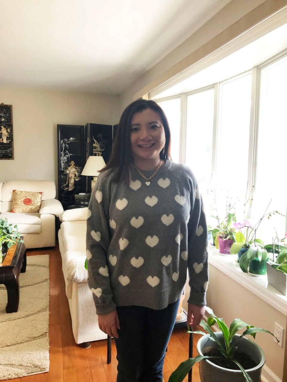 White Heart Sweater 2