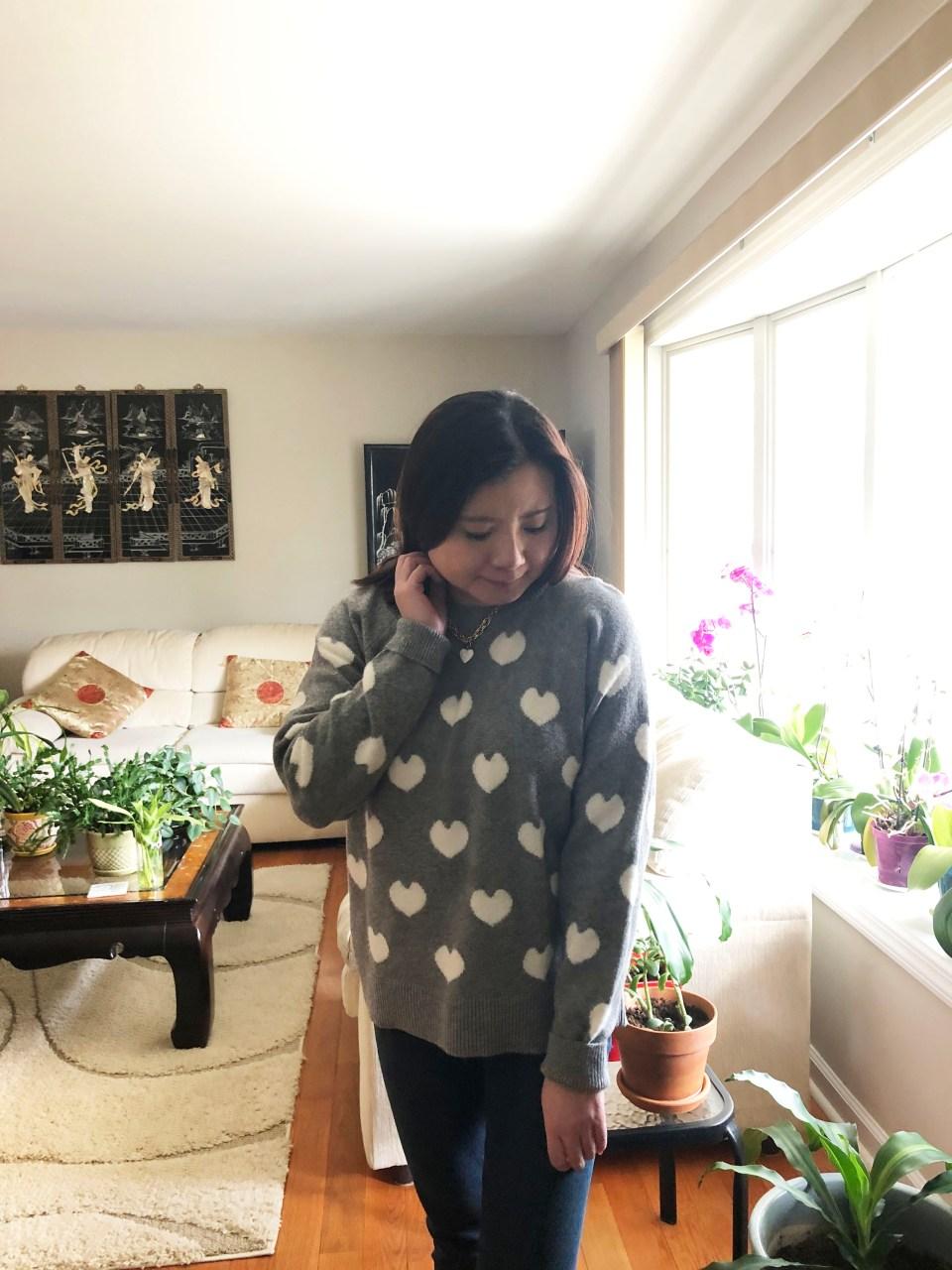 White Heart Sweater 3