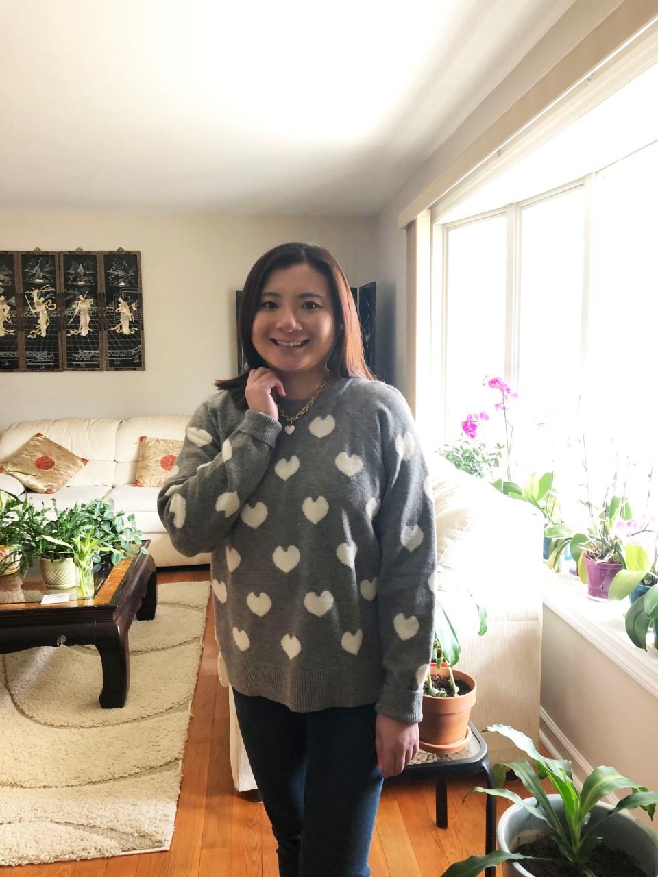 White Heart Sweater 4