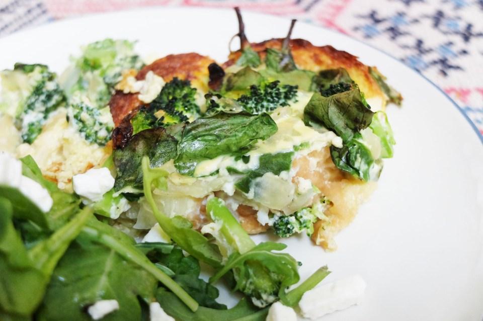 Broccoli & Spinach Strata 15