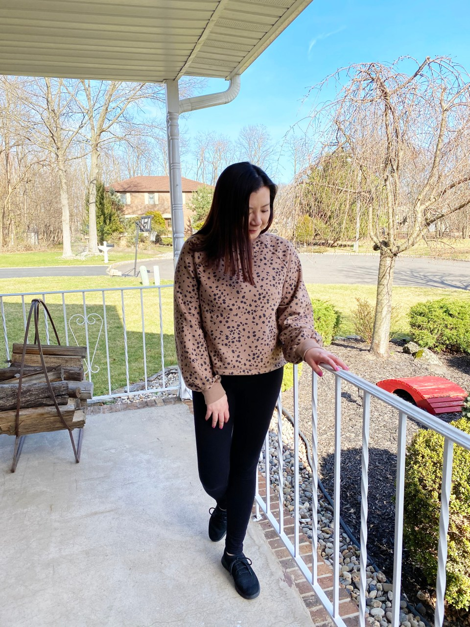 Brown Print Mockneck Sweatshirt 12