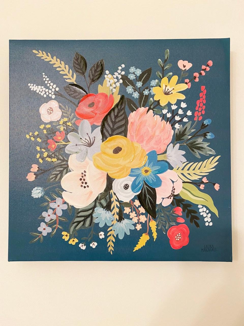 Floral Bouquet Painting 1