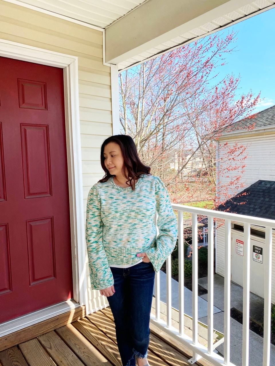 Green & Yellow Patterned Sweater 12