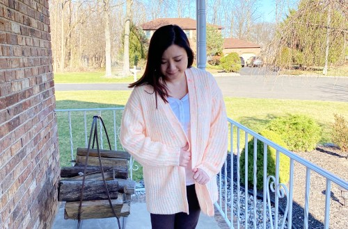 Neon Speckled Cardigan
