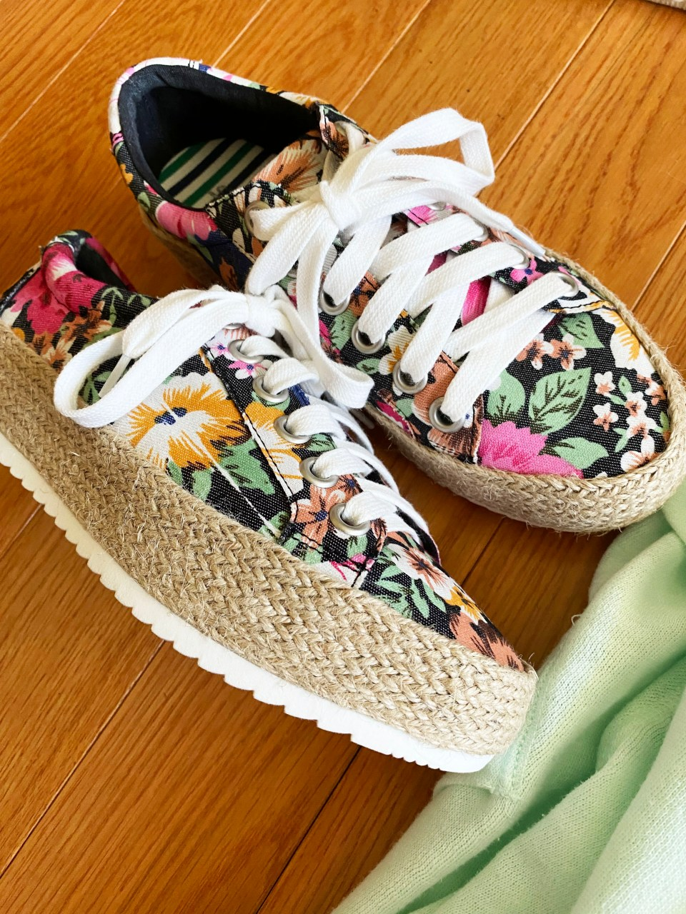 Floral Espadrille Sneakers 12