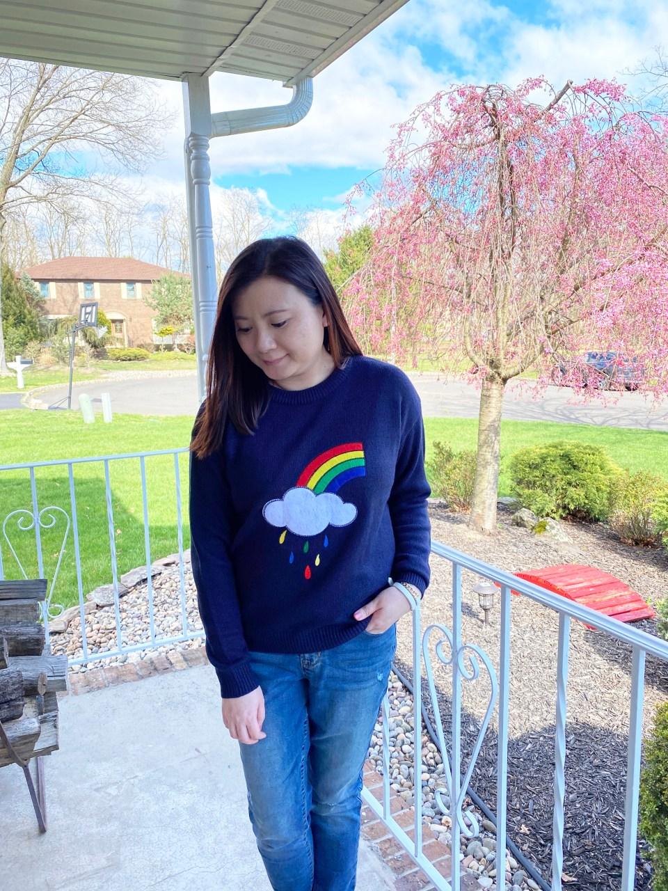 Rainbow & Cloud Sweater 1