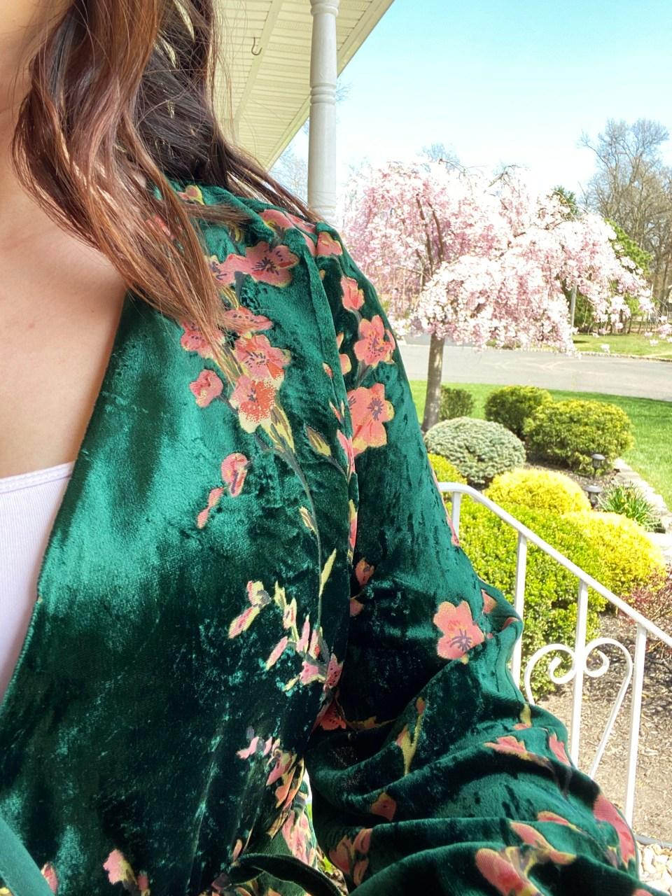 Velvet Burnout Floral Wrap Top 17