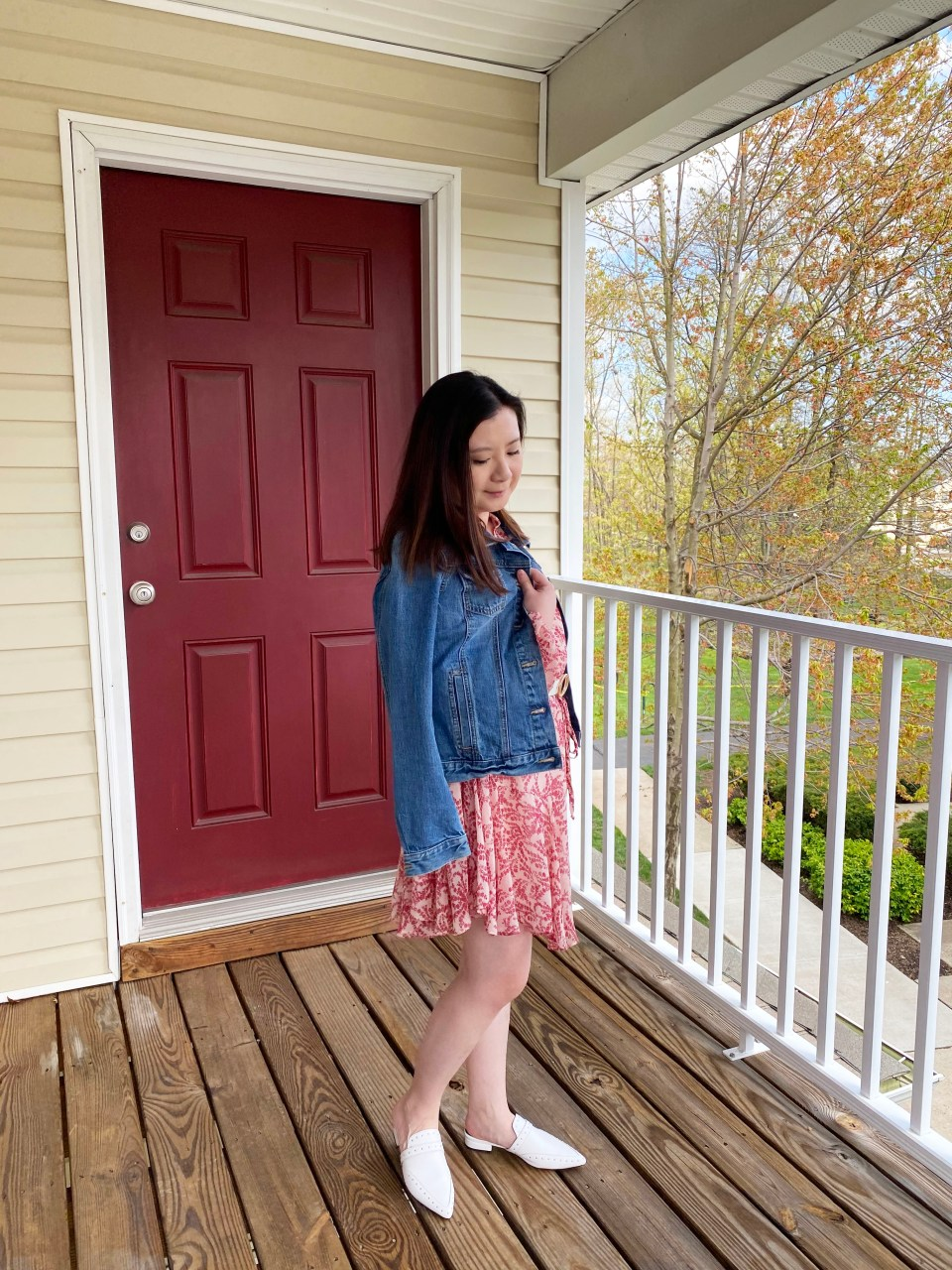Grapevine Dress + Denim Jacket 2