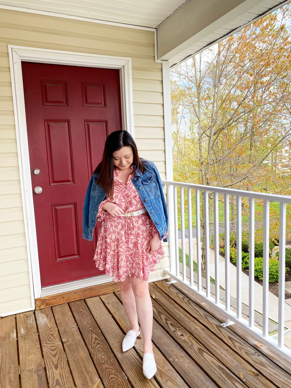 Grapevine Dress + Denim Jacket 5