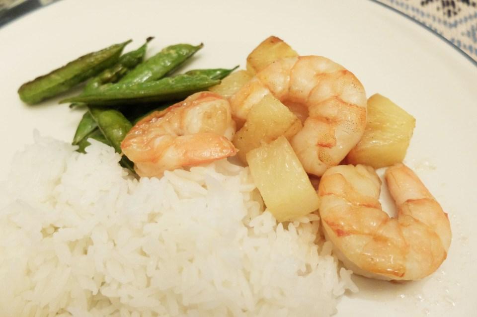Sheet Pan Teriyaki Shrimp + Snap Peas + Pineapple 9