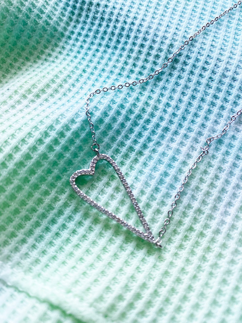 Heart Pave Necklace 2