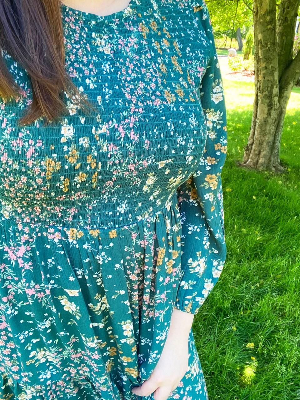 Smocked Babydoll Maxi Dress 10