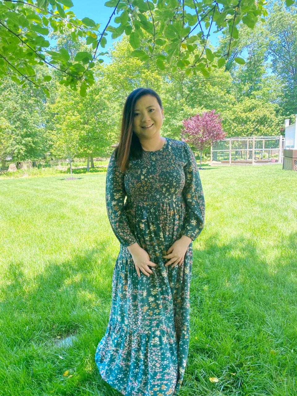 Smocked Babydoll Maxi Dress 15